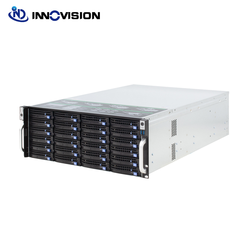 Super enorme armazenamento 24 baías 4u hotswap rack nvr nas servidor chassi s46524