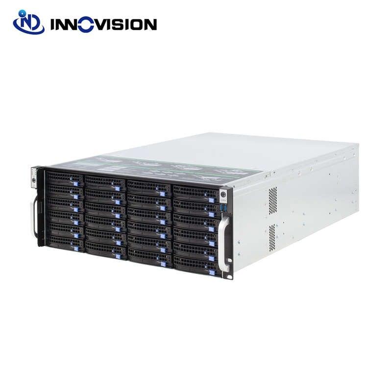 Super enorme opslag 24 bays 4u hotswap rack NVR NAS server chassis S46524
