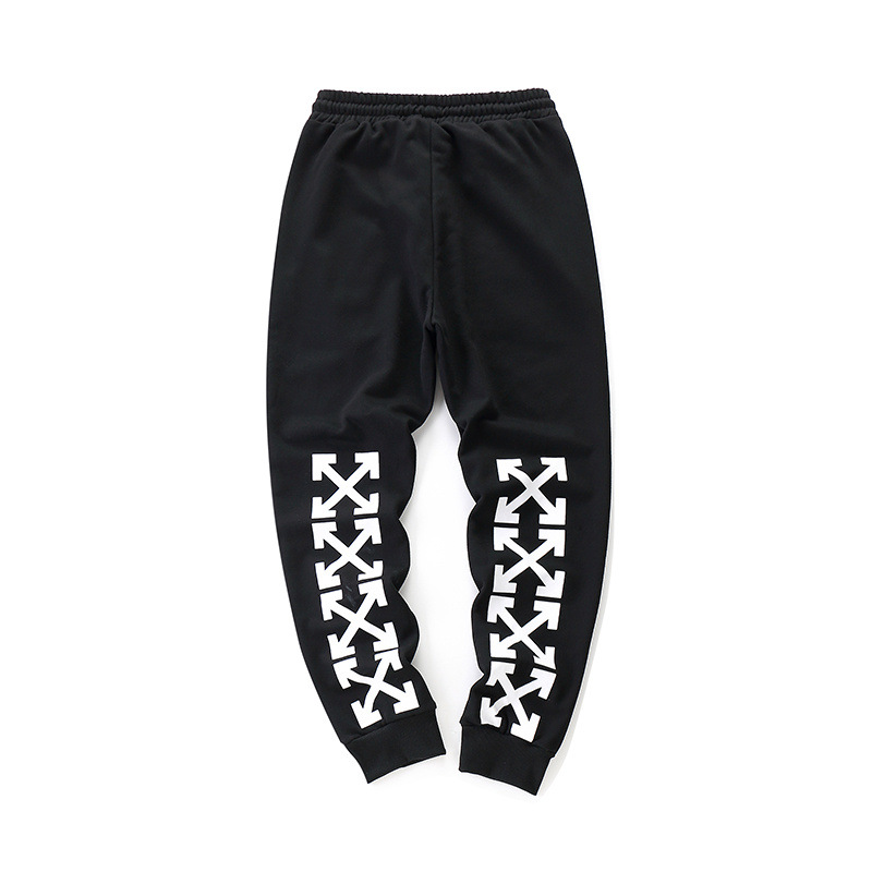 Europe And America Popular Brand Off White Arrowhead Printed Men And Women Casual Athletic Pants