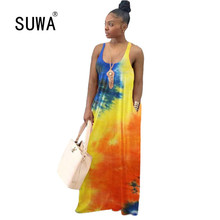 New Product Wholesale Summer Long Maxi Dresses Woman Party N