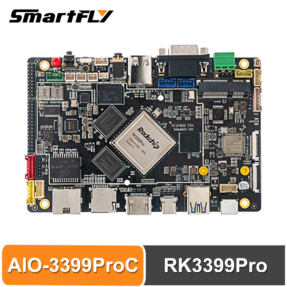 Smartfly Firefly AIO-3399ProC RK3399Pro Single Board Computer For Aiot Cortex-A72 Cortex-A53 LPDDR3 Linux+QT/Android/Ubuntu Sbc