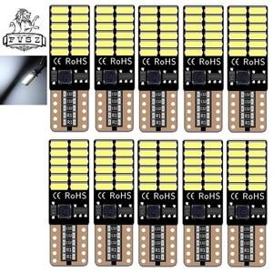 Image 2 - 10 stücke T10 LED canubs W5W 4014 194 Auto lichter bulb Auto herstellung unabhängige 24 led glühbirne ist sehr helle Weiß, gelb