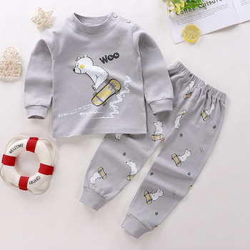 0-24M Baby Clothing Sets Autumn Baby boys Clothes Infant Cotton Girls Clothes 2pcs newborn baby Underwear Kids Clothes Set - 0, 18M