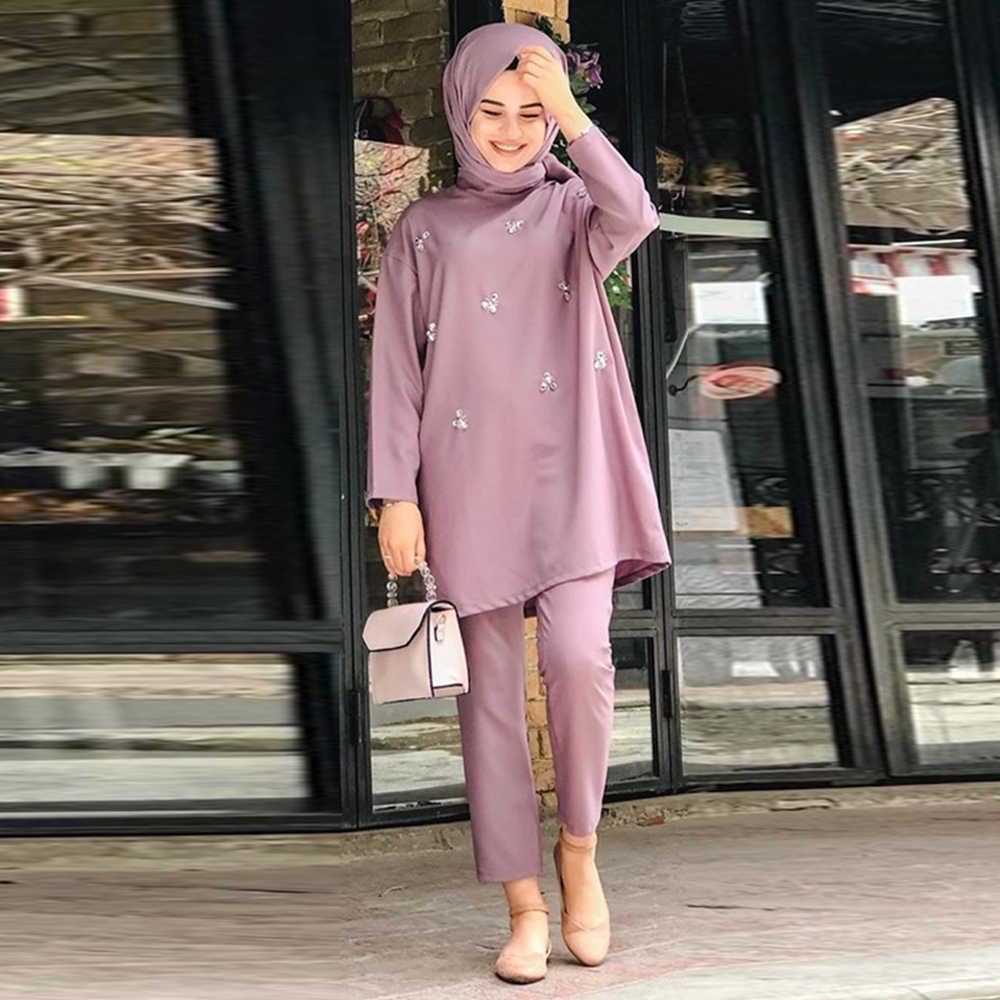Abaya Dubai Turkey European Islam Clothing Abayas For Women Muslim Fashion  Set de Moda Musulman Ensembles muslimischen sets