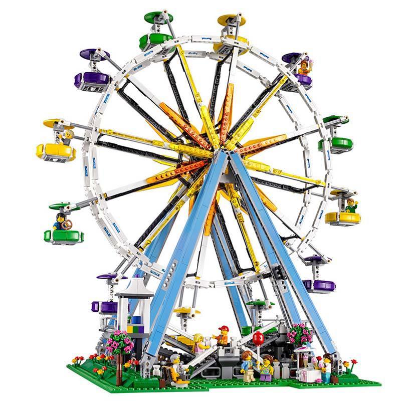 15012 City Street Creator Series 2478pcs Ferris Wheel Model Building Blocks Kits Toy Compatible With 10247