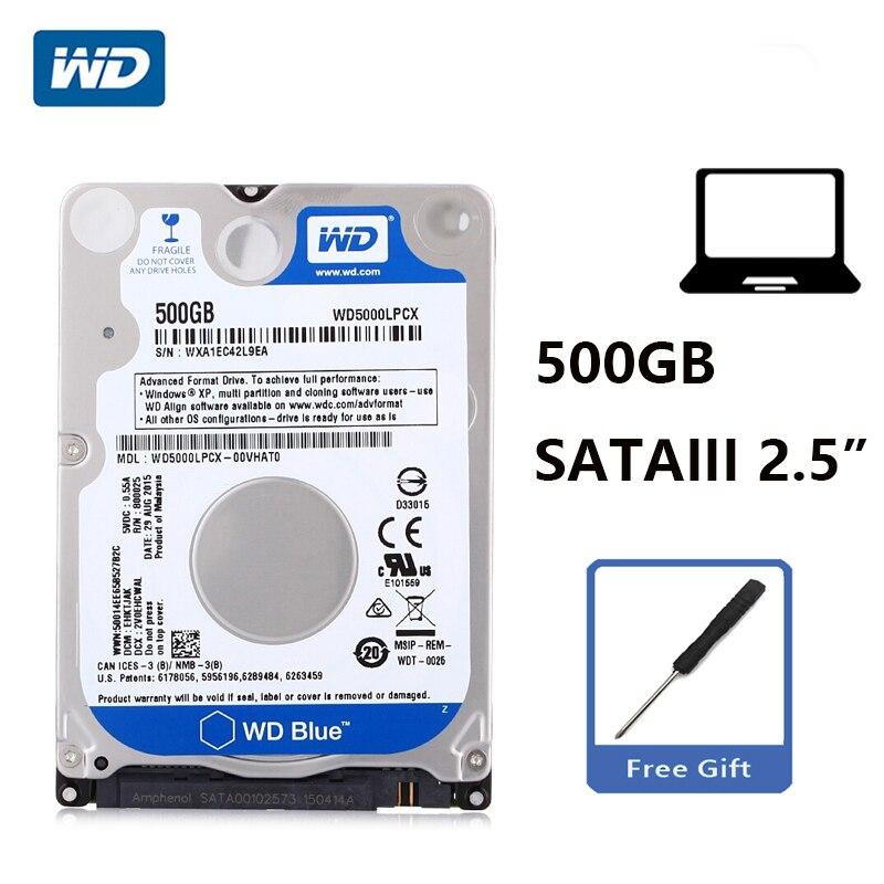 """Wd azul 500 gb 2.5 """"disco rígido interno 500g hdd hd disco rígido sata iii 6 gb/s 16 m 7mm 5400 rpm para o portátil do caderno"""