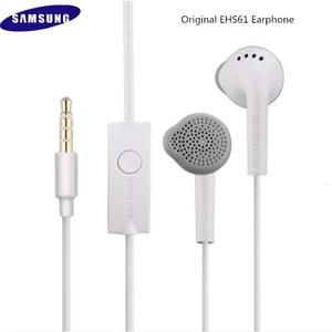 Image 2 - Новинка, оригинальные наушники вкладыши для Samsung S5830, 3,5 мм, спортивные наушники вкладыши, гарнитура проводного типа для S9, S10, A10, A30, J5, J7, EHS61, с микрофоном