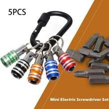 5pcs 1/4''  screwdriver socket bit hex shank bits quick