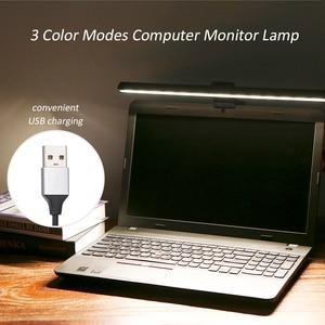 Image 5 - 3 Color USB Powered Computer Monitor Lamp Screen Bar Light Eye caring E Reading LEDs Light 10 Brightness Adjustable