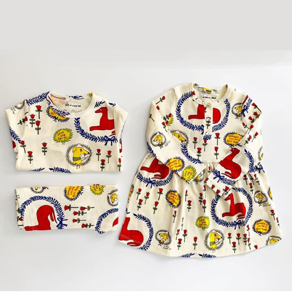 2021 Spring Toddler Girl Outfits Mini Newborn Baby Romper Boys Girls Cotton Dress Underwear Set Long Sleeve Casual Home Service 4