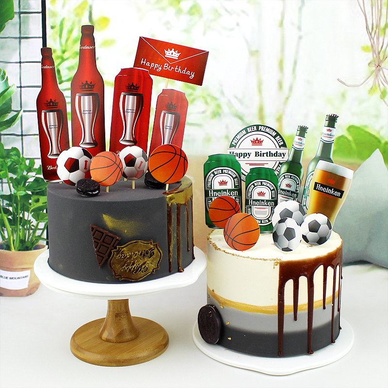 Fantastic Summer Beer Party Cake Topper Happy Birthday Cake Decoration Personalised Birthday Cards Epsylily Jamesorg