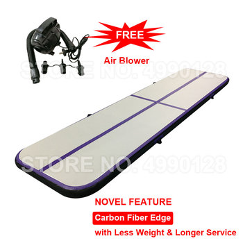 2m 3m 4m Inflatable Light Air Track Gymnastics Mattress Tumbling Airtrack for Gym Tumble Yoga Wrestling Carbon Fiber Material