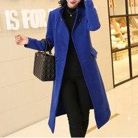 XUXI High Quality Women New Coat Elegant Streetwear Korean Blue Orange Windbreaker Coat Winter Female Fashion Overcoat FZ797