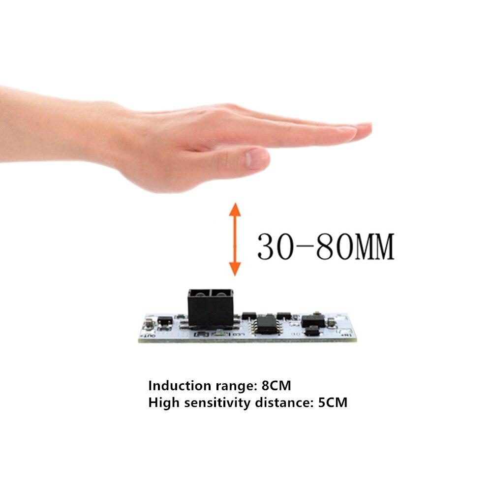 Сенсорный переключатель емкостный модуль 5в-24в 3а светодиодный регулятор яркости лампы активные компоненты короткое расстояние сканирован...