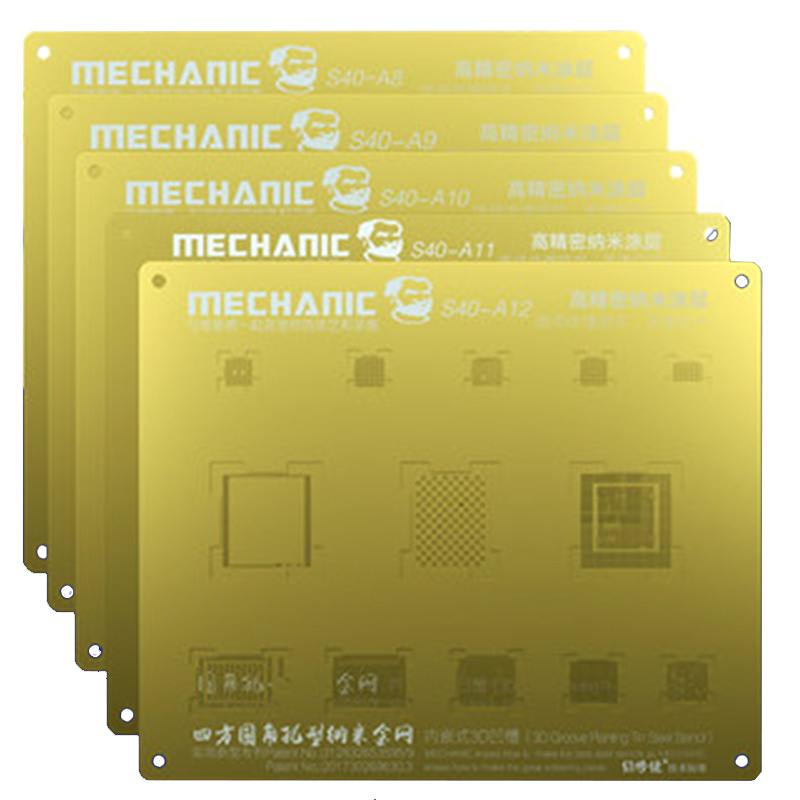 Mechanic 3D Groove Reballing Stencil  A8 A9 A10 A11 A12 Gold Plant Tin Mesh For IPhone 6 6S 6SP 7G 7P 8 8P X XS XS MAX XR S40