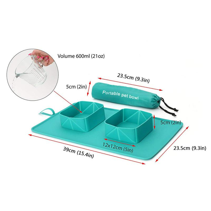 dimensions of the easy to transport pet placemat