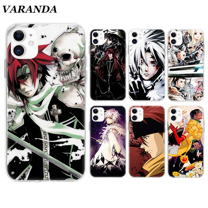 <font><b>D</b></font> Gray Man Hallow Anime Case for Apple <font><b>iPhone</b></font> 11 X XR XS Max 7 8 6 <font><b>6S</b></font> Plus 5 5S SE 5C Silicone Cover Phone <font><b>Coque</b></font> Shell image