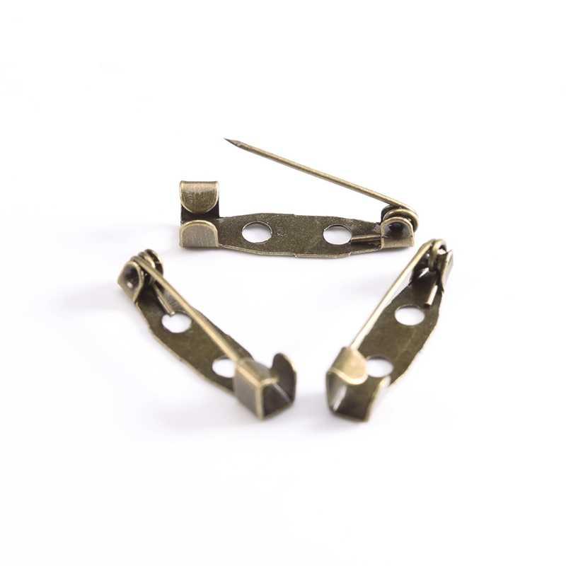 50 sztuk/partia 15 20 25 30 35 mm srebrna broszka klip podstawy szpilki agrafki broszka ustawienia puste podstawy dla DIY elementy do wyrobu biżuterii