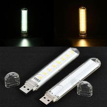 Комплект из 2 предметов, новые Отличительные DC 5V Mini USB 3/8 светодиодный светильник карманные карты лампа мобильный Мощность Кемпинг ноутбук Н...
