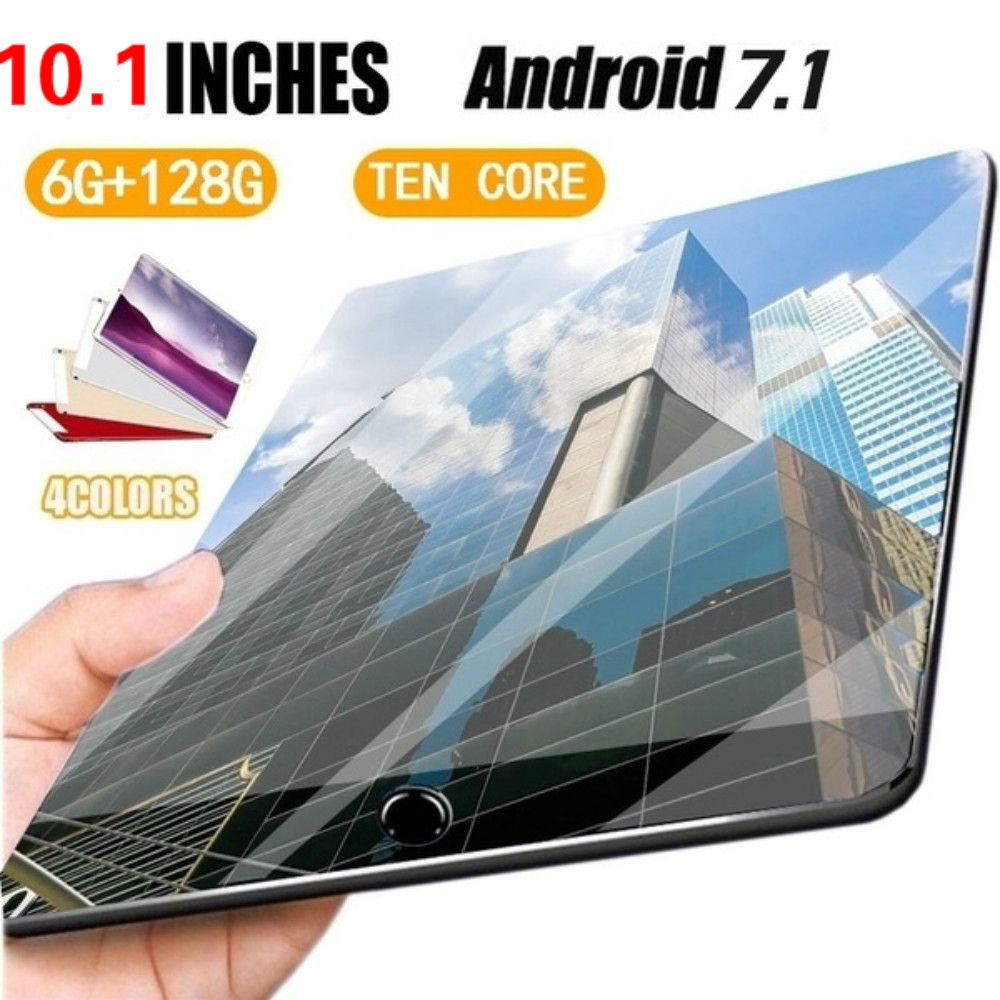 10 Inch Tablet 4G LTE Tablet PC 10 Core 6 GB RAM 128 GB ROM Google Market 1280x800 IPS Tablets Android 8.0 Wifi GPS Bluetooth