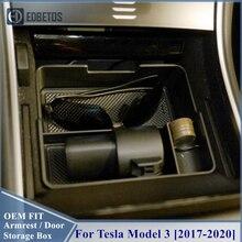 Consola Central de coche Tesla, Modelo 3, 2017, 2018, 2019, 2020, accesorios interiores, caja de almacenamiento de remolque