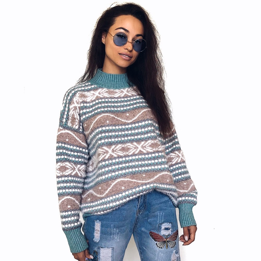 Knit Sweater And Pullovers Women Turtleneck Oversized Cashmere Sweater Mujer Pull Femme Hiver 2019 Winter Tops Sueter Mujer