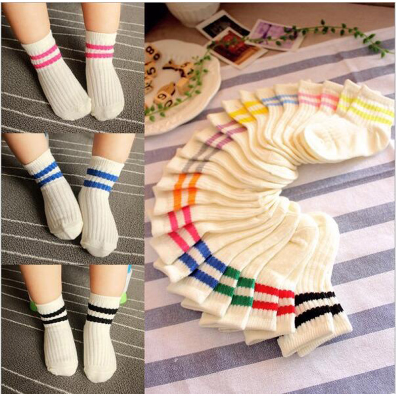kids Socks  Cotton Boy's Girl's Lovely  striped style All-match Baby Children's Sock 1-10year 10pair=20pc=lot sales direct 2