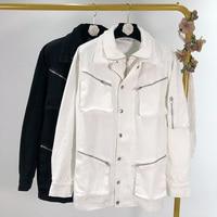 Spring 2020 New Korean Stand Collar Zipper Decoration Coat Women's Jacket Windbreaker Oversized Women Coats and Jackets Women