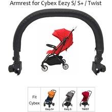 Acessórios de carrinho de criança braço para cybex eezy handrest pára corrimão alta qualidade couro do plutônio para cybex s torção buggy acessórios