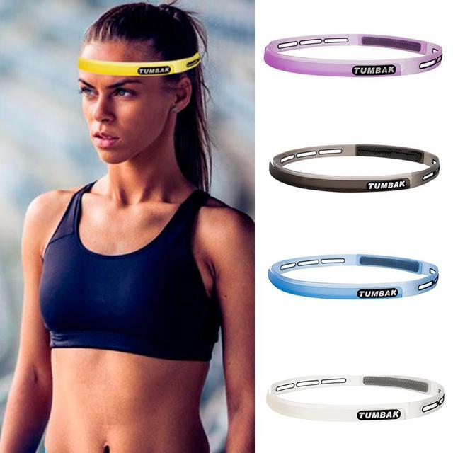 Head Sweatband Headband Unisex Silicone Sports Guiding Belt Sweat Sweat Cycling 4