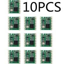 RFM69HC, 10 Uds., RFM69HCW, RFM69H, 433MHZ/868MHZ/915MHZ, FSK, Módulo Transceptor Inalámbrico, SX1231, 16x16mm