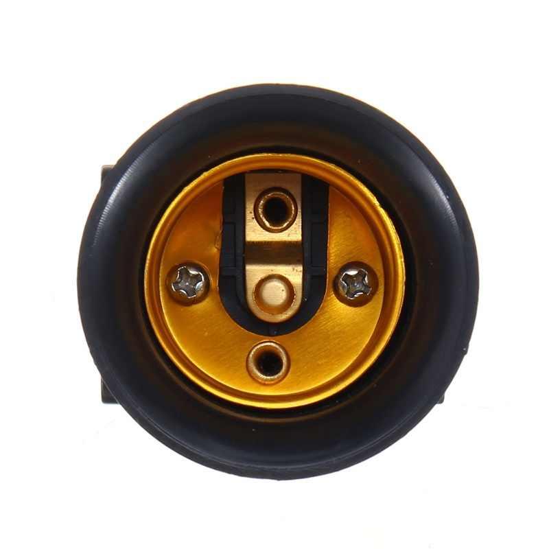 1 pièces E27 ampoule adaptateur 4A PBT ignifuge lampe support Base prise avec prise EU AC100-240V livraison directe du fournisseur
