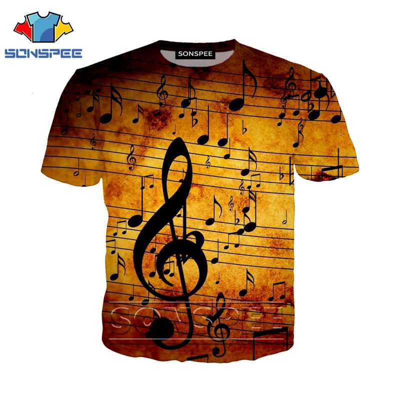 Anime 3d Print Grappige T-shirt Mannen Vrouwen Music Notes Fashion T-shirt Game Sexy Kids Harajuku Top Tee Grappige Shirts homme Tshirt A36