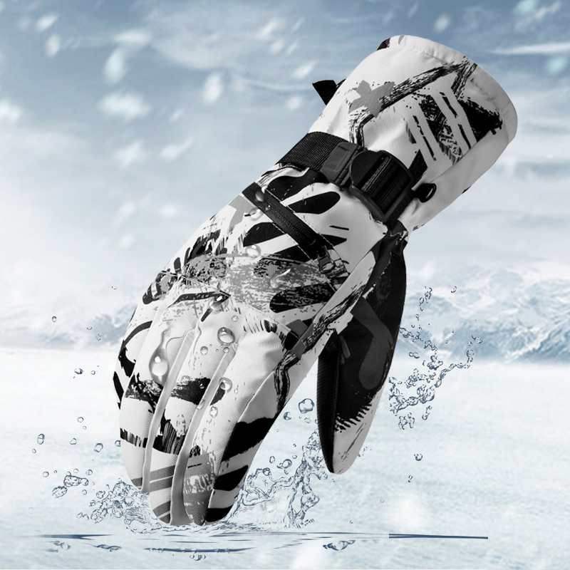 New Winter Snow Gloves Ski Gloves Women Waterproof Gloves Snowboard Heated Gloves Touch Screen Gloves Mens Warm Cycling  Gloves