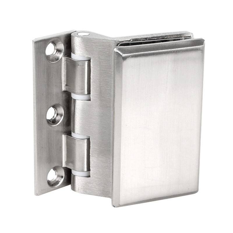 2pcs Glass Door Hinge Cupboard Showcase Cabinet Clamp Glass Shower Doors Hinge Replacement Parts Wall-to-Glass Sliding Two piece