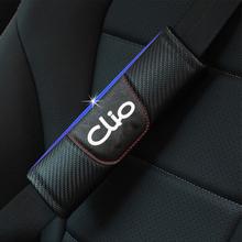 Dla Renault Clio 2 sztuk moda Carbon włókno skórzane nakładka na pas bezpieczeństwa w samochodzie fotelik samochodowy nakładka na pas bezpieczeństwa akcesoria samochodowe tanie tanio CDIY CN (pochodzenie) PU Carbon fiber Pasy bezpieczeństwa i wyściółka Safety Strap Car Seat d518
