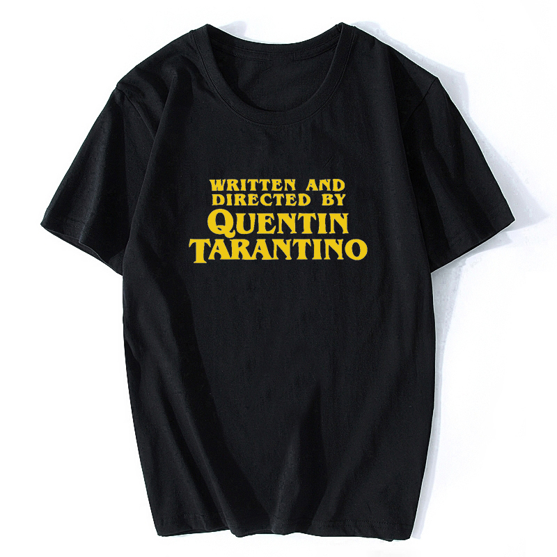 Written And Directed T-Shirt Quentin Tarantino Graphic Pulp Fiction Casual O-Neck High Quality Funny Tops Clothing Letter Tshirt