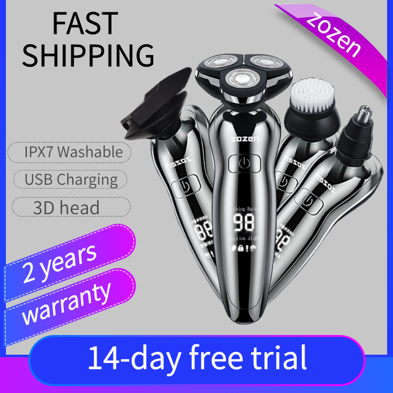 Electric Shaver For Men Electric razo Shaver for men Razor Clipper Washable USB Charging with Nose trimmer Professional shaving