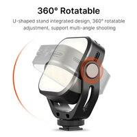 Ulanzi Vijim VL66 Adjustable LED Video Light with 360 Rotation Mount Bracket Rechargable DSLR SLR Mobile Portable Fill Light