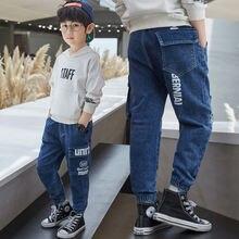 Manboy 2020 модная детская одежда джинсовые брюки для мальчика