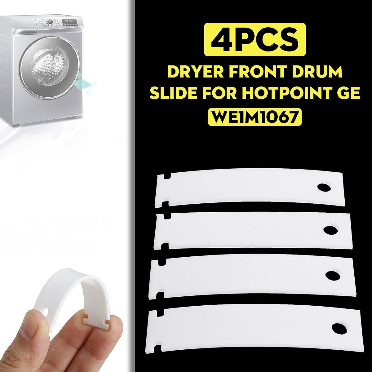 4pcs WE1M1067  Cloth Dryer Top Bearing Glide Replacement Accessories For GE