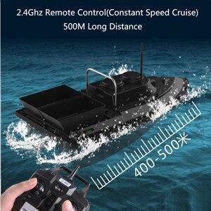 Image 2 - Большая двойная Воронка с умным беспроводным управлением, радиоуправляемая лодка наживка, 2,4G 55 см, 500 м, дальний двойной светильник, высокоскоростная радиоуправляемая приманка, рыболовная лодка