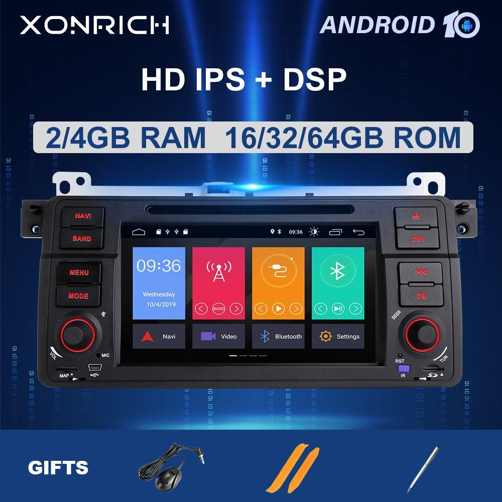 8 núcleo autoradio 1 din android 10 multimídia do carro para bmw e46 m3 318/320/325/330/335 rover 75 coupe navigationgps stereo4 + 64 gb dsp