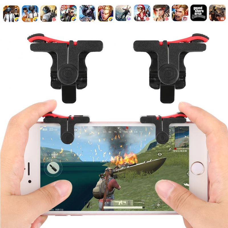 2pcs/lot PUBG Moible Controller Gamepad Free Fire L1 R1 Trigger PUGB Mobile Keypads Grip L1R1 Joystick For IPhone Android Phone(China)