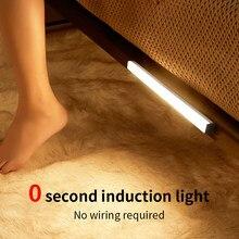 LED Closet Light PIR Motion Sensor LED Lamp USB Rechargeable Wireless Cabinet Lighting Under Cabinet Strip Lamp For Kitchen