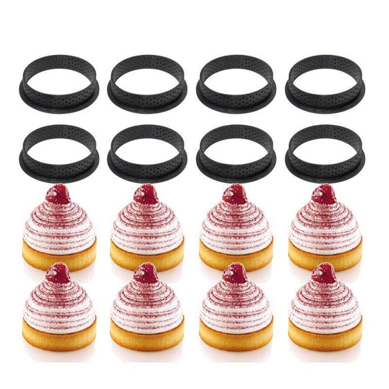 タルトリングtartlet金型フレンチデザートムースケーキ型ケーキベーキングケーキ装飾穿孔ラウンド型リングキッチンベーキングツール