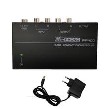 超小型フォノrcaプリアンプ1/4インチtrsインタフェースpreamplificadorフォノプリアンプPP400