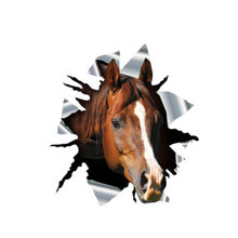 Personality 3d car sticker arabian horse animal decals auto