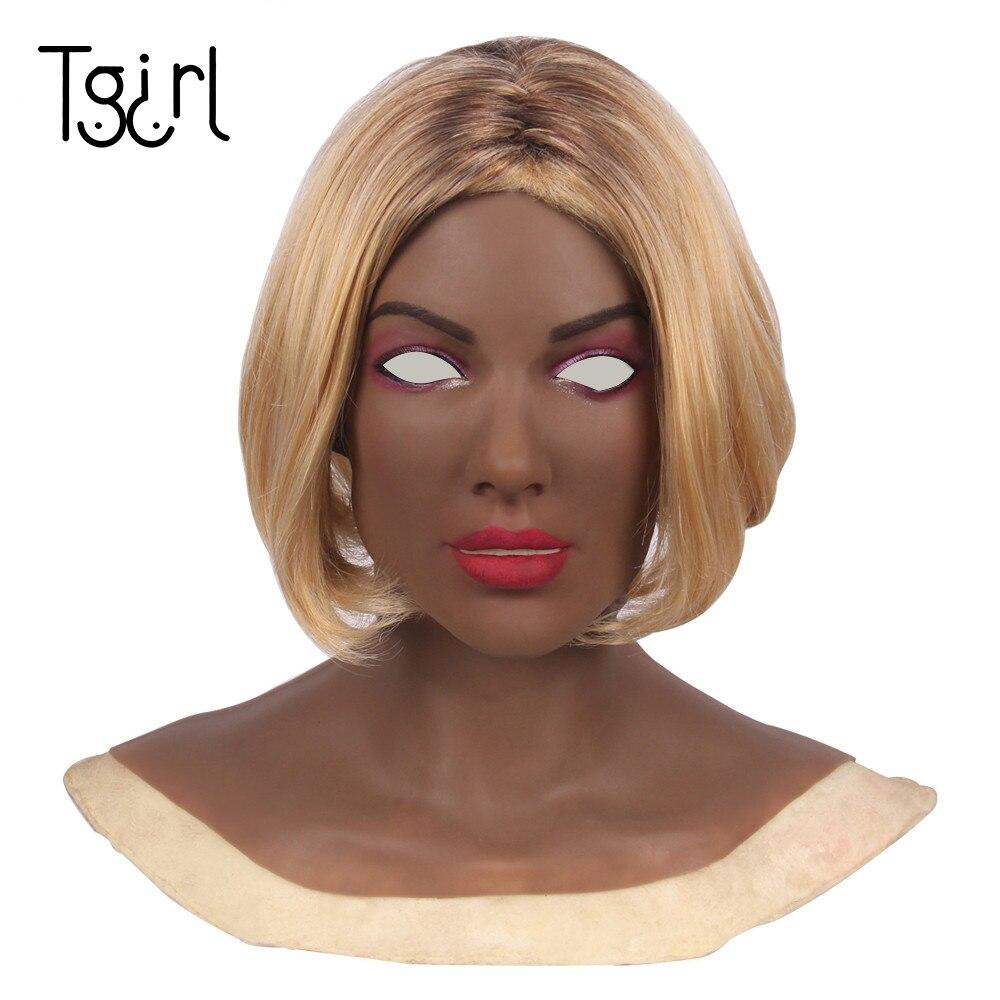 Female Silicone Headgear Masquerade Crossderesser Cosplay máscara de silicona femenina силиконовая женская маска