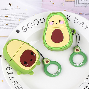 Image 2 - Earphone Case For Airpods 2 Case Silicone Cute Avocado Fruit Strawberry Cover For Apple Air pods 2 Accessories Earbud Case